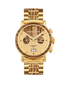 Brushed Gold Stainless Steel Capitol Chrono Watch