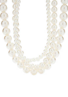 Kim Rogers® Faux Pearl Multi-strand Necklace