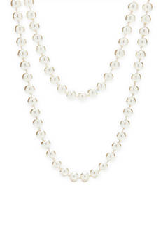 Kim Rogers® Endless Knotted Glass Pearl Long Necklace
