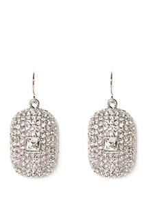 Vince Camuto Pave Drop Earrings
