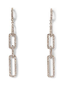 Vince Camuto Pave Link Linear Earrings