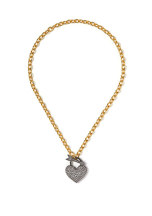 Crystal Pave Heart Pendant