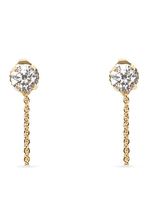 Vince Camuto Gold-Tone Metal Core Stone Stud Earrings