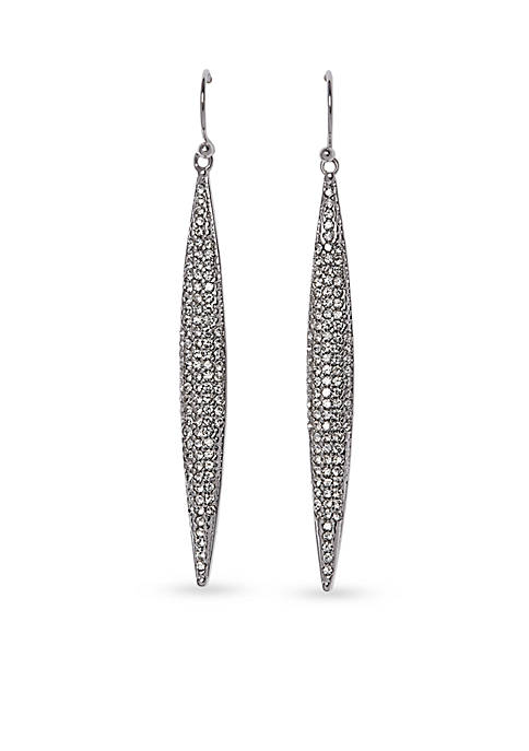 Vince Camuto Silver-Tone Pave Core Clear Crystal Pave