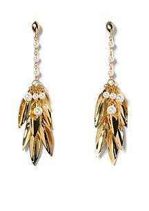 Gold-Tone Statement Linear Earrings