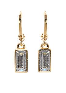 Gold-Tone Museum Huggie Drop Earrings