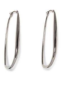 Gold-Tone Organic Hoop Earrings