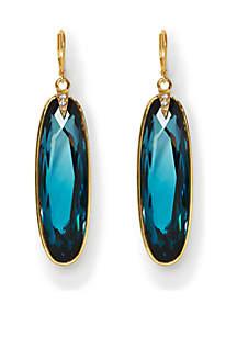 Gold-Tone Statement Drop Earrings