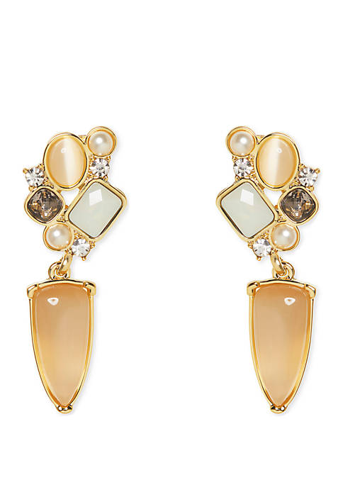 Vince Camuto Desert Oasis Cluster Post Drop Earrings