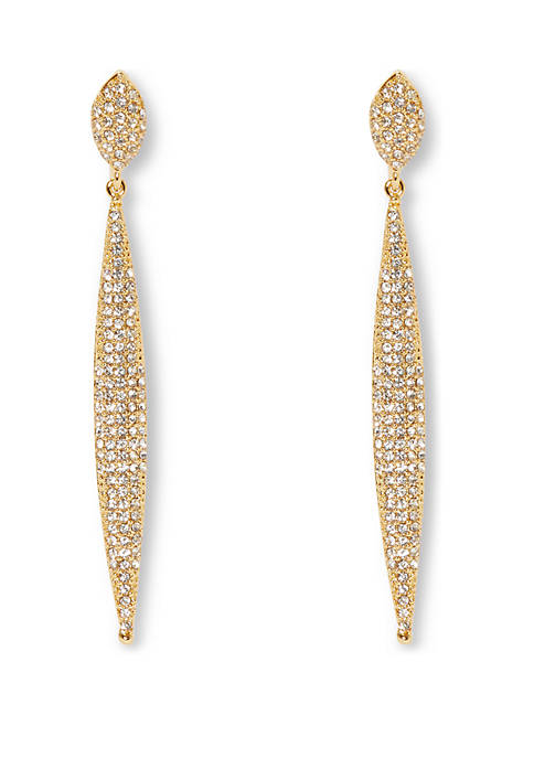 Vince Camuto Crystal Drop Clip Earrings