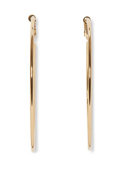 75 mm Clip Hoop Earrings