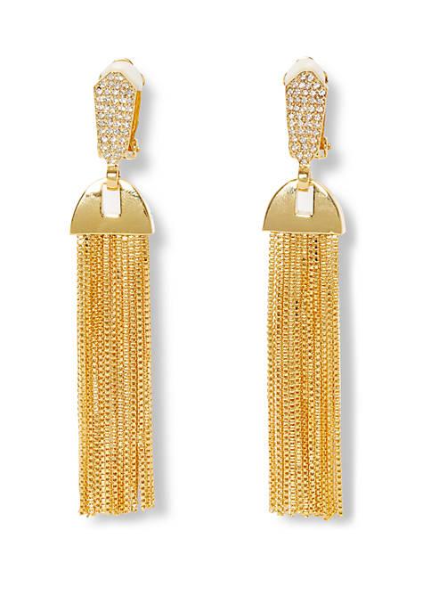 Pave Tassel Earrings