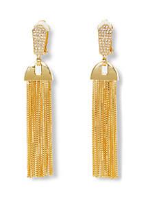 Vince Camuto Pave Tassel Earrings