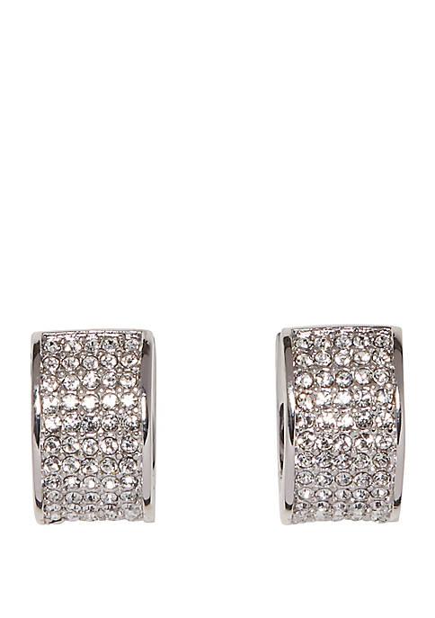 Crystal Pave Huggie Earrings