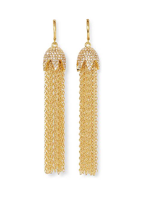Lever Fringe Tassel Earrings
