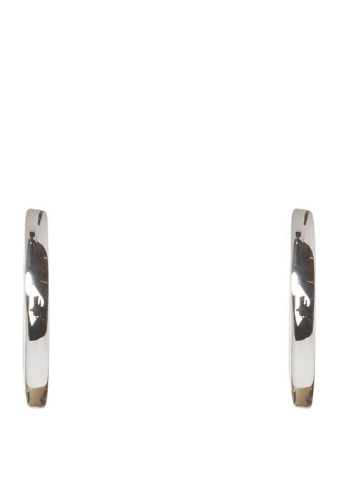 Crescent Moon Huggie Earrings