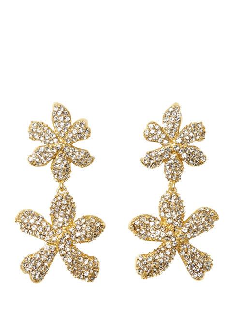 Double Drop Flower Earrings