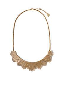 Danish Garden Vintage Gold-Tone Crystal Flare Necklace