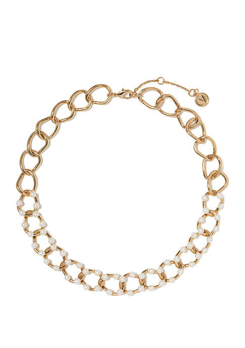 Clean Pearl and Link Necklace
