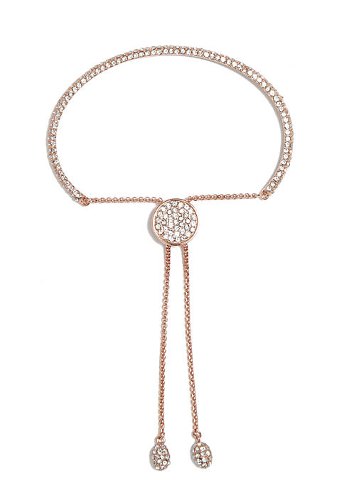 Vince Camuto Rose Gold-Tone Pave Core Clear Crystal