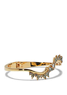 Gold-Tone Oval Hinge Bracelet