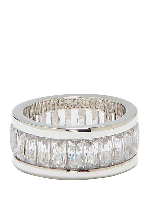 Baguette Cubic Zirconia Crystal Channel Set Ring