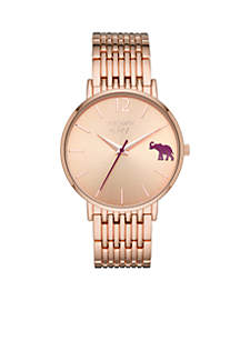 Women's Round Rose Gold-Tone Mary Rose 3-Hand Watch