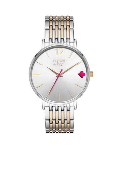 Womens Round Gold & Silver Two-Tone Mary Rose 3-Hand Watch