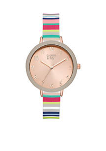 Multi Striped Silicone Watch