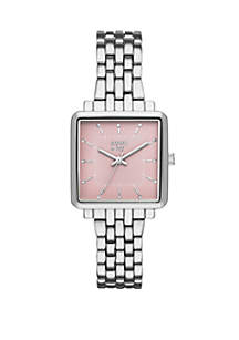 Crown & Ivy™ Hattie Silver Tone Three Hand Bracelet Watch