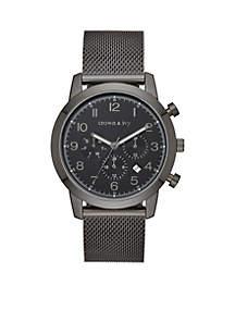 Men's Stainless Steel Blackout Mesh Multifunction Watch