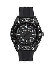 Men's Stainless Steel IP Silicone Sport Watch