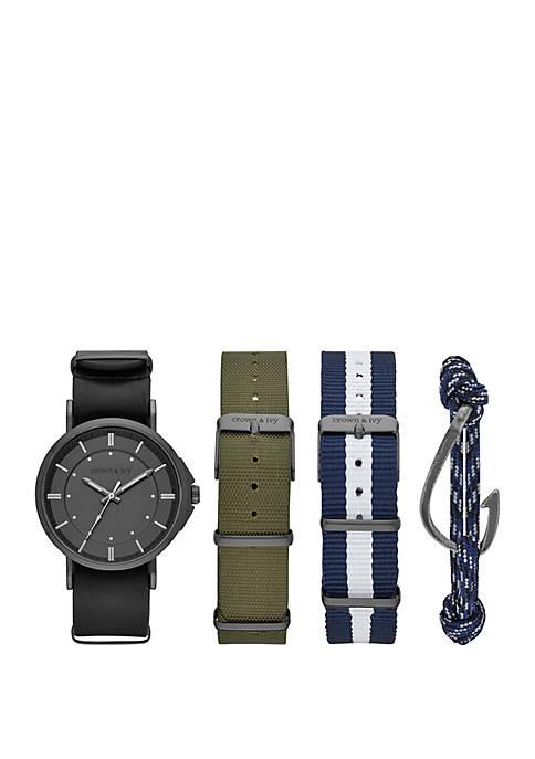 Black-Tone Watch Interchangeable Strap Set
