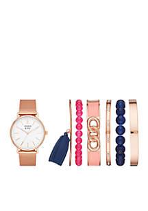 Women's Gold-Tone Mesh Watch & Bracelet Set