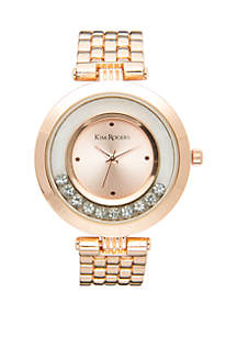 Moving Crystal Dial Watch