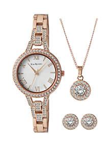 Kim Rogers® 4-Piece Glitz Watch Set