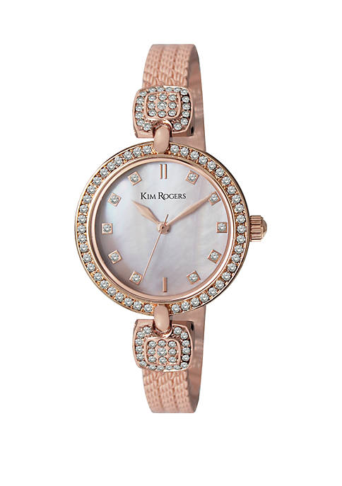 Half Bangle Glitz Bracelet Watch