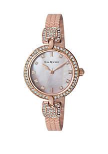Kim Rogers® Half Bangle Glitz Bracelet Watch