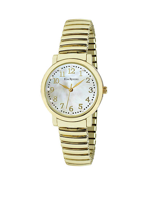 Womens Genuine Mother Of Pearl Dial Expansion Watch