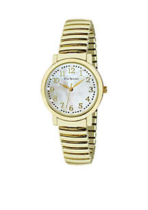 Kim Rogers® Women's Genuine Mother Of Pearl Dial Expansion Watch