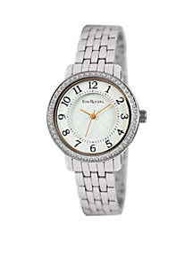 Women's Silver-Tone Glitz Bracelet Watch