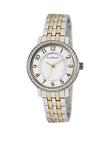 Women's Two Tone Gold Easy Read Bracelet Watch