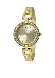 Women's Crystal Bezel Adjustable Bangle Watch
