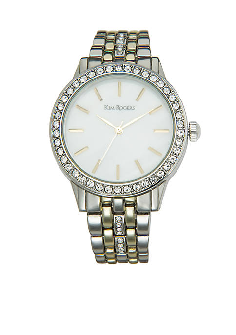 Two-Tone Bracelet Mother-Of-Pearl Dial Watch