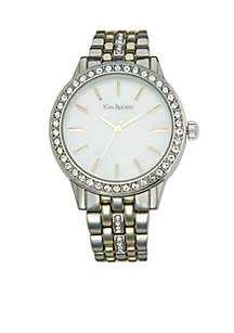 Kim Rogers® Two-Tone Bracelet Mother-Of-Pearl Dial Watch