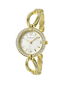Women's Gold-Tone Glitz Bangle Watch