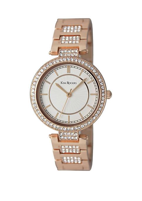 Womens Crystal Bezel and Bracelet Link Watch