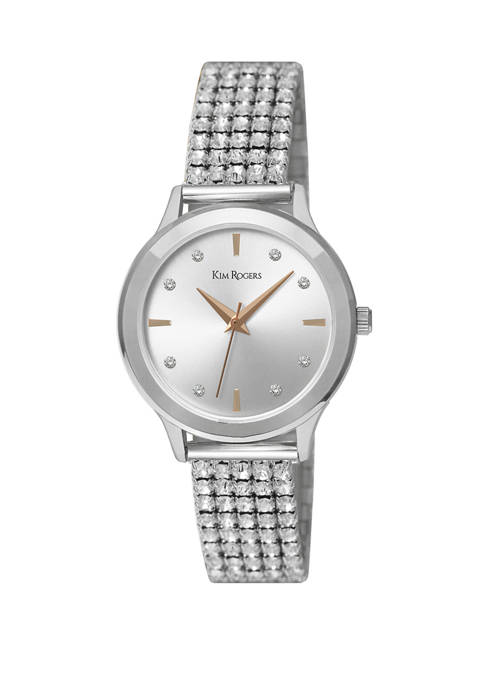 Womens Stretch Expansion Bling Watch