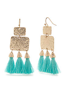 Textured Multi Tassel Earrings