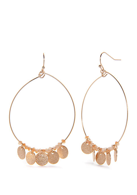 Kaari Blue™ Glass Discs Hoop Earrings